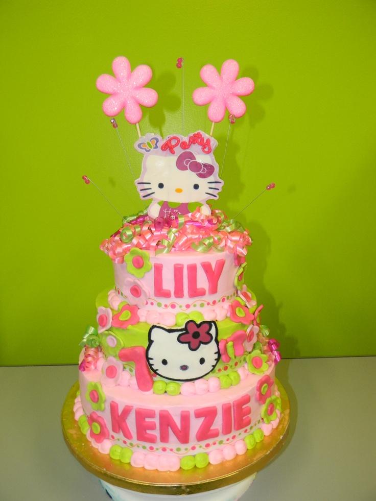 Hello Kitty 3 tier cake-my Kenzies bday cake!!