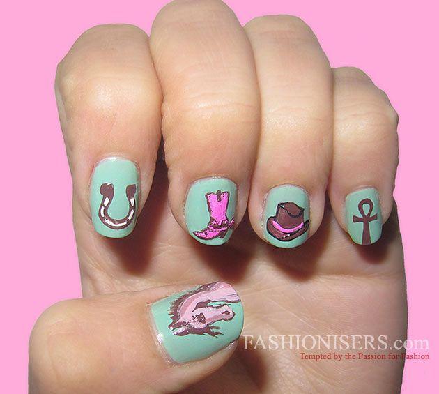 Cute Horse Nail Art Designs   Horse nail art, Horse nails and Horse