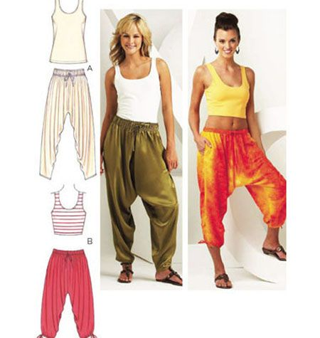 Easy harem pants pattern free patterns for Harem pants template