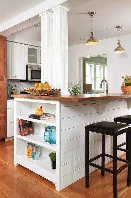 Eclectic kitchen by the gudhouse company snack bar ideas for Kitchen breakfast bar ideas designs