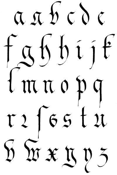 Alphabet Gothique Fraktur Fraktur Pinterest