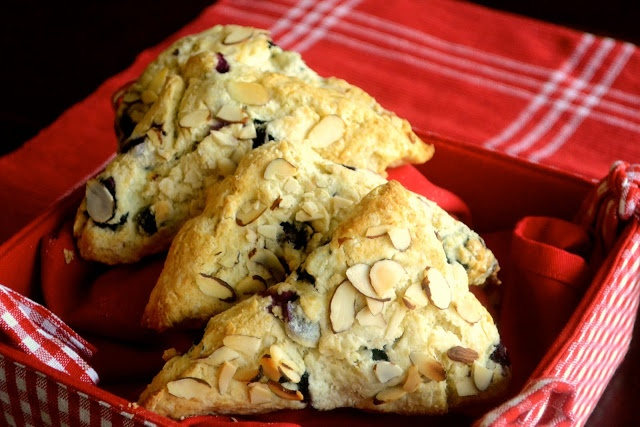 Blueberry Toasted Almond Scones