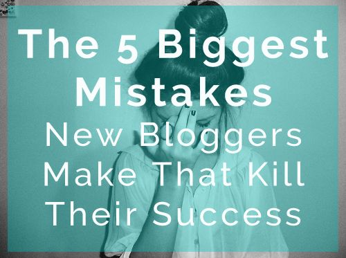 biggest mistake that bloggers make