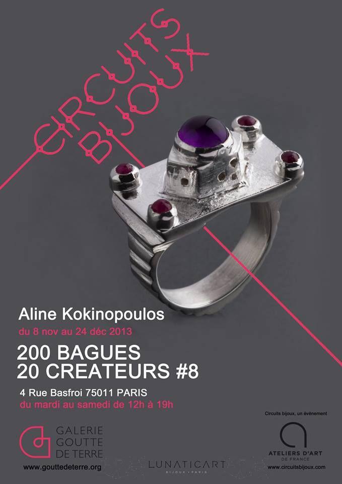 CIRCUITS BIJOUX -  200 Bagues - 20 Créateurs - bague Aline Kokinopoulos