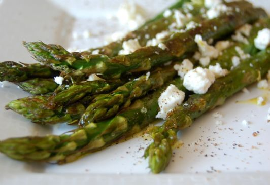 Roasted Asparagus with Feta and Dijon Mustard/Balsamic Vinegar Drizzle ...