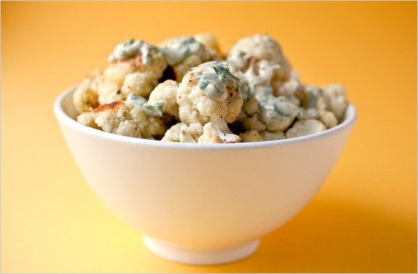 Roasted Cauliflower With Tahini-Parsley Sauce: View this and hundreds ...