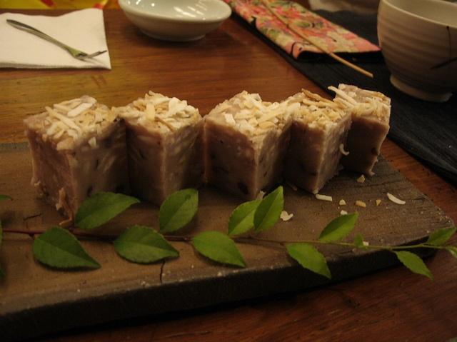 coconut-flavored taro cake @ Taipei,  I want its recipe!