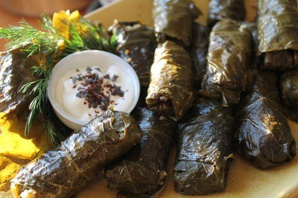 Dolmades (stuffed grape leaves) | Savory (aka Not Dessert) | Pintere ...