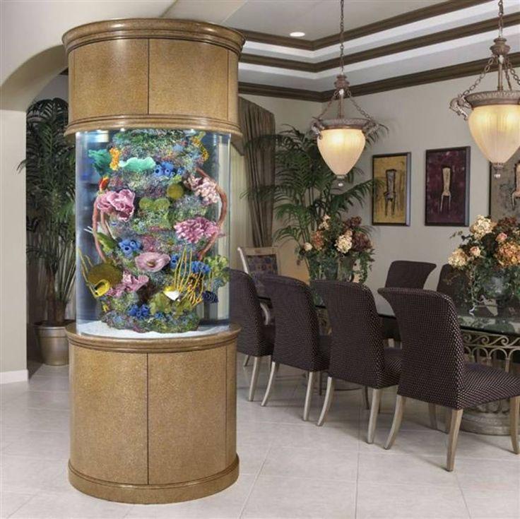 Round pillar aquarium / fish tank