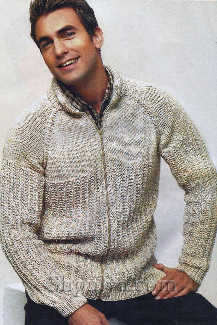 Вязание мужские свитера модели молния