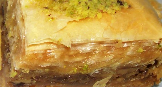 Pistachio Baklava with Rose Water Syrup | Food & Drink | Pinterest