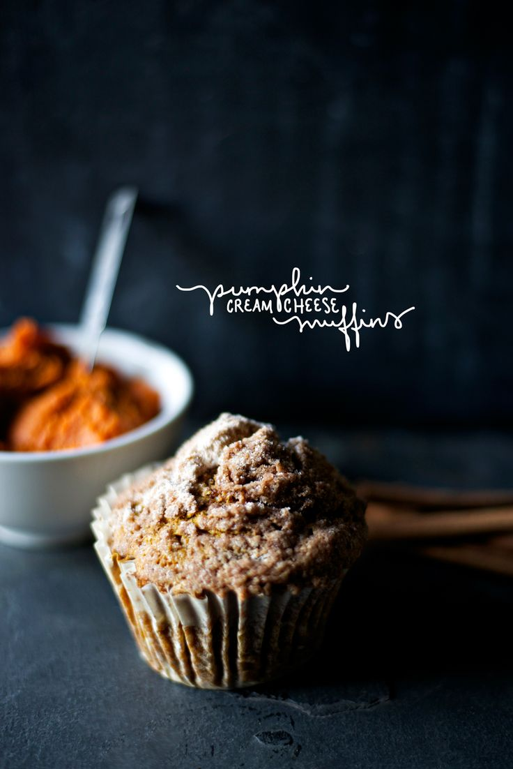 Pumpkin Cream Cheese Muffins   food   Pinterest