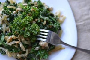 Sautéed Kale with Tahini Sauce | EAT | Pinterest