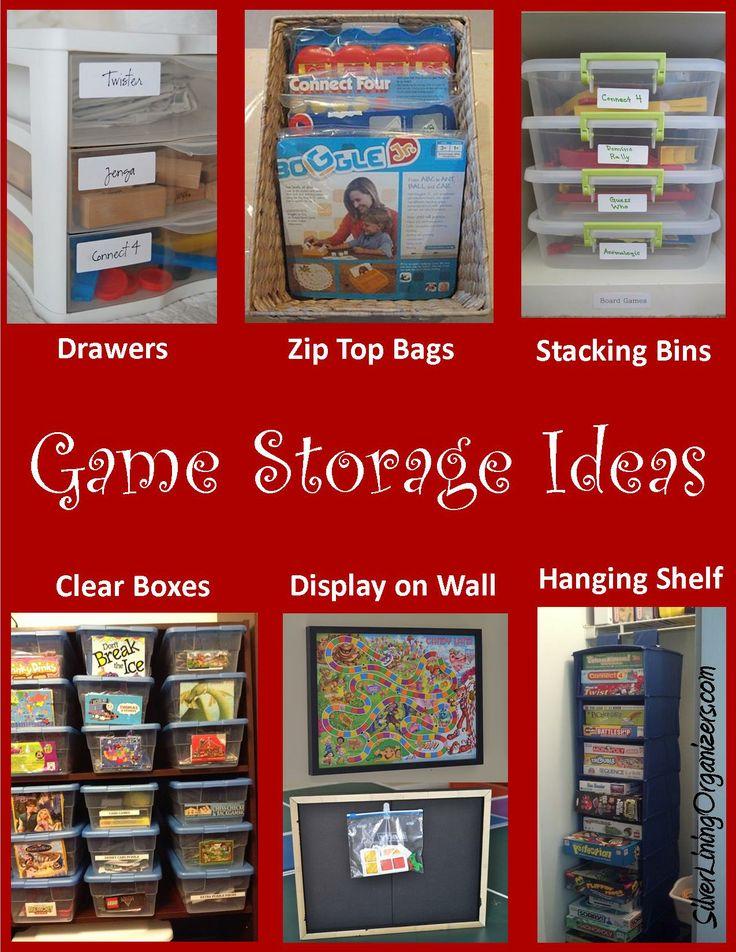 Board game storage ideas help pinterest for Game storage ideas