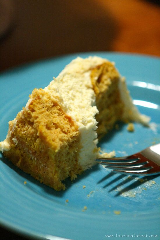 Pumpkin Cheesecake Cake with Cream Cheese Frosting | Recipe