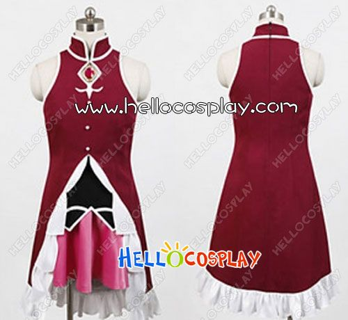 $88.00  Puella Magi Madoka Magica Cosplay Kyoko Sakura Costume  Include:Coat +Shirt + Skirt (Not include necklace)  Material:Uniform Cloth + Cotton