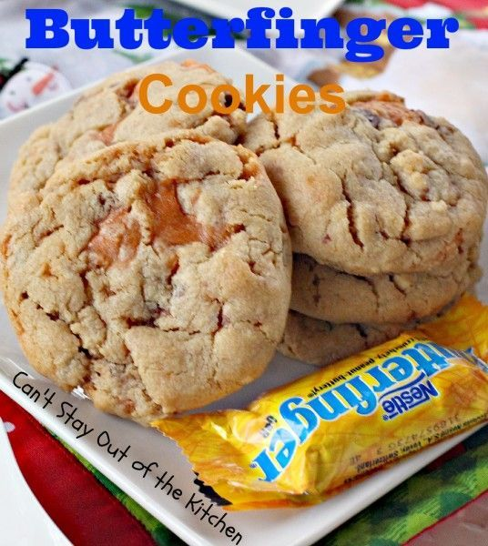Butterfinger Cookies. | Gimme something sweet! | Pinterest