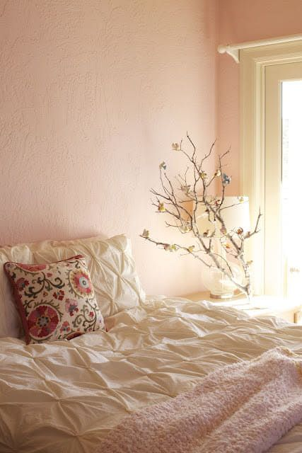 Pink shade wall bedroom pastel dream home amp decor pinterest