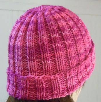 Knitting Patterns For Hats Pinterest : Ribbed hat knitting pattern Crafts-Knitting Pinterest