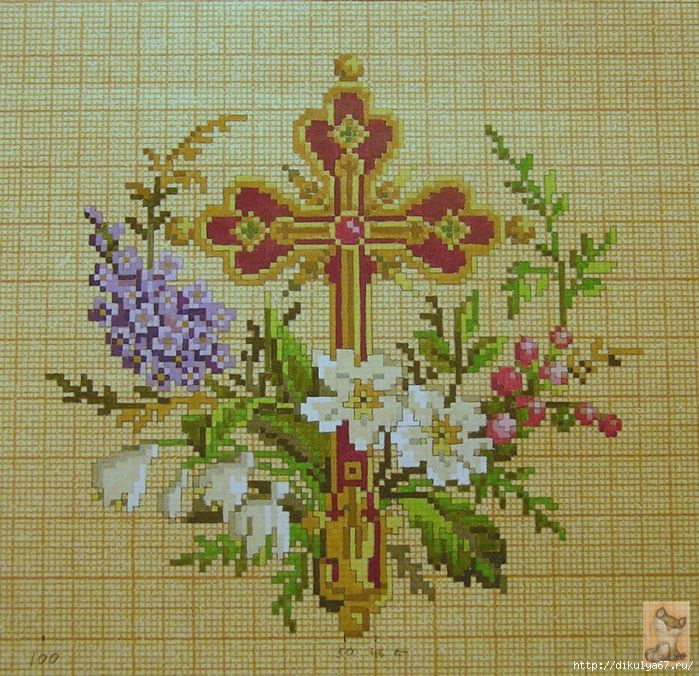 Вышивка крест церковный 92