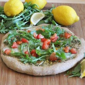 Lemon Arugula and Garlic Pizza   Dinner   Pinterest