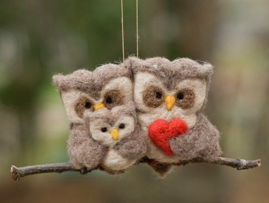 felted owl family - by Repinly.com