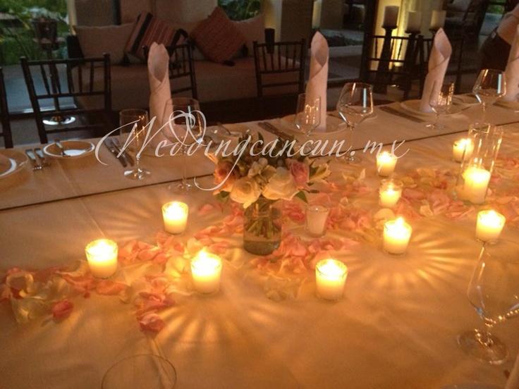 #votive #candles #pink #flower #decor at #banyantree #mayakoba #weddingcancun by #latinasia