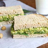 Smashed Chickpea & Avocado Salad Sandwich by Two Peas & Their Pod