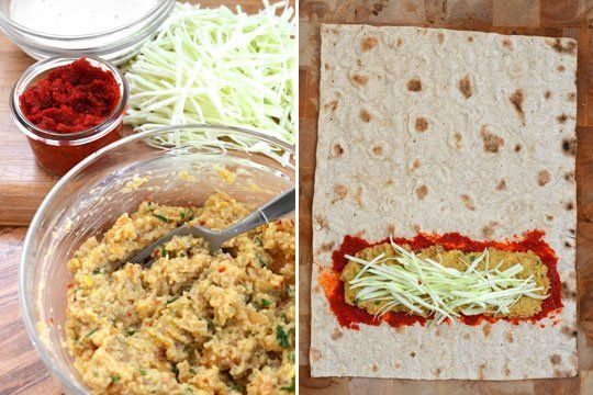 ... with tahini sauce spicy lentil wrap with tahini sauce recipe yummly