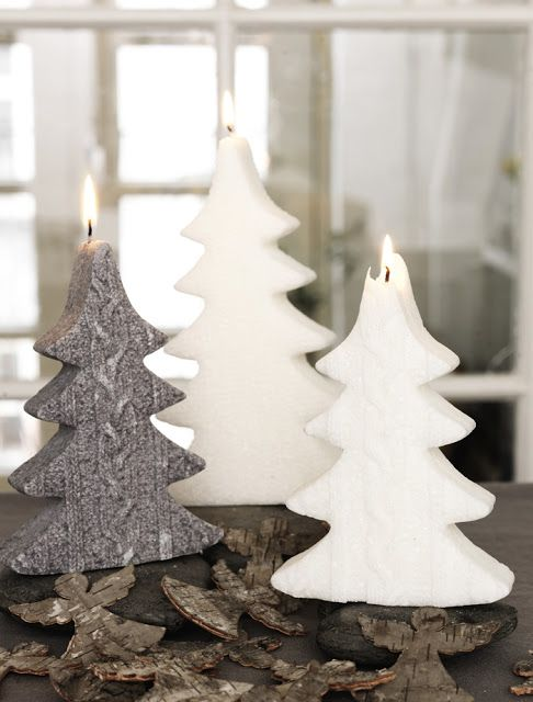 Xmas tree candles decor ♥