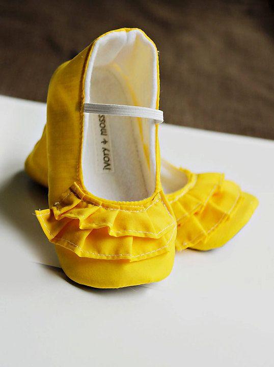 Kids Girls Shoes Yellow