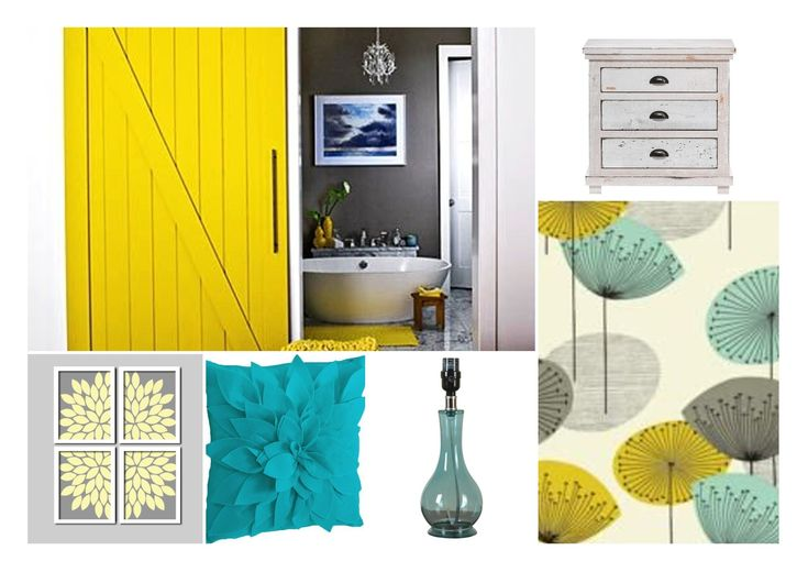 Master Bedroom Yellow Grey Teal For The House