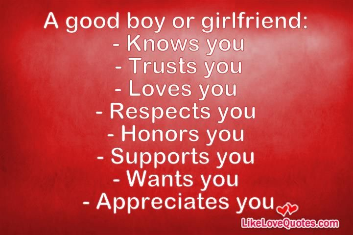 Qualities of a good boyfriend quiz