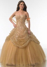 Belle inspired wedding dress a beauty and the beast for Wedding dress like belle from beauty and the beast