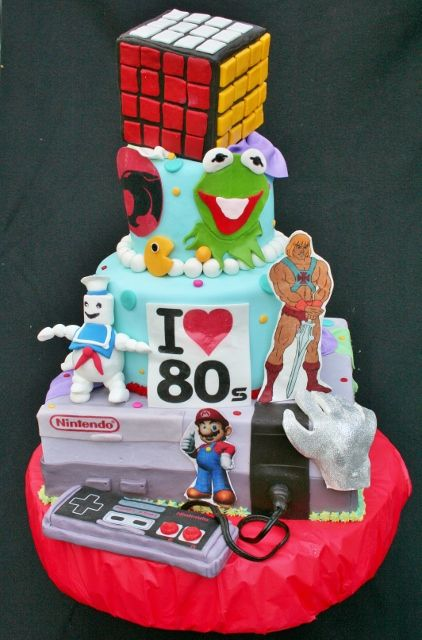 Pin by samantha kestin on cake decorating pinterest for 80s cake decoration ideas