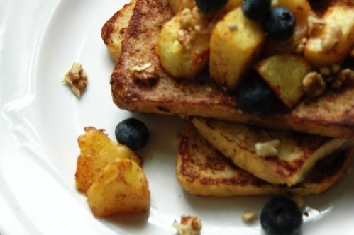 classic french toast with roasted pineapple