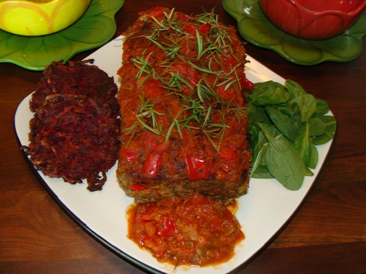 ... and diced tomatoes i served it with sweet potato and beet latkes