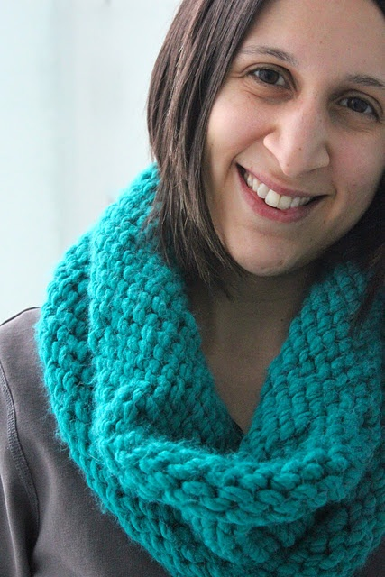easy easy knit cowl pattern knitting Pinterest