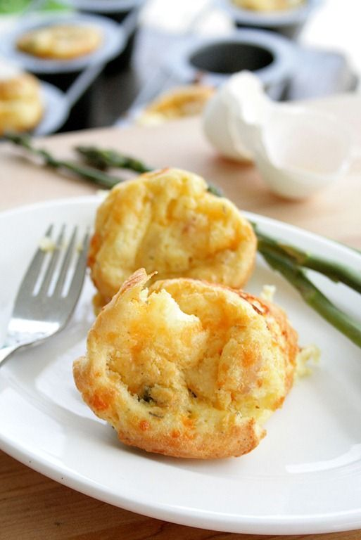 Savory-popovers with sausage, potatoes, and asparagus - delish! Can't ...