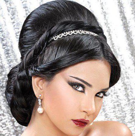 About Hair Style : arabic hairstyles Arabic wedding hair style Pinterest