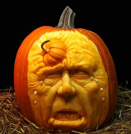 Cool Pumpkin Carvings Holiday Pinterest