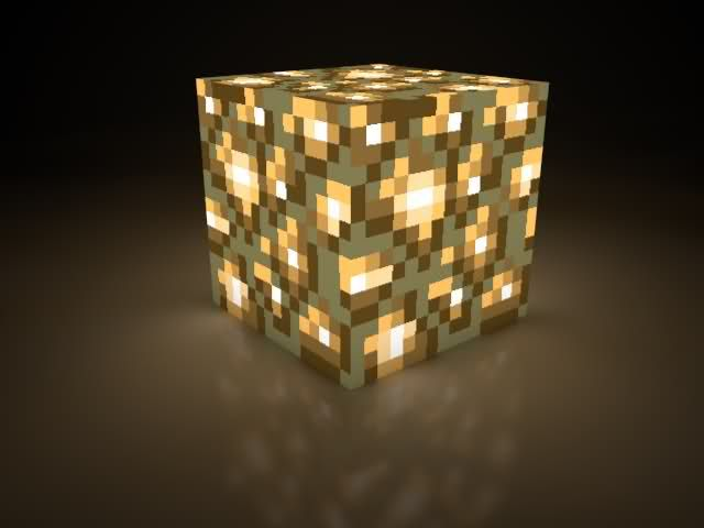 Glowstone - put these around lights for decoration