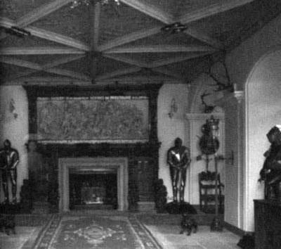 Ghost Woman near fireplace
