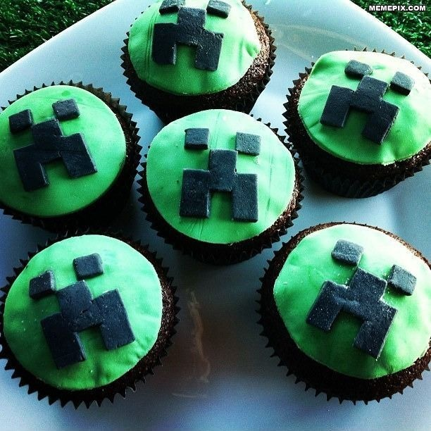 Minecraft Cupcake | MineCraft - Party Ideas | Pinterest