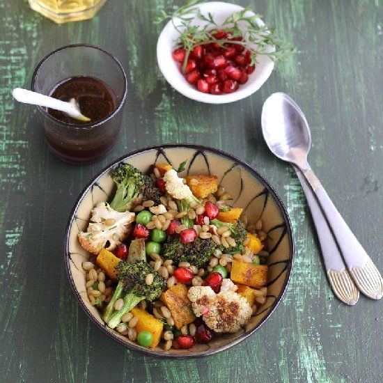 Wheat Berry Salad w/ Roasted Winter Vegetables is nourishing ...