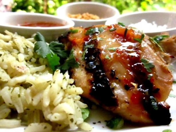 Thai Grilled Chicken With Honey-Chili Glaze. Photo by gailanng