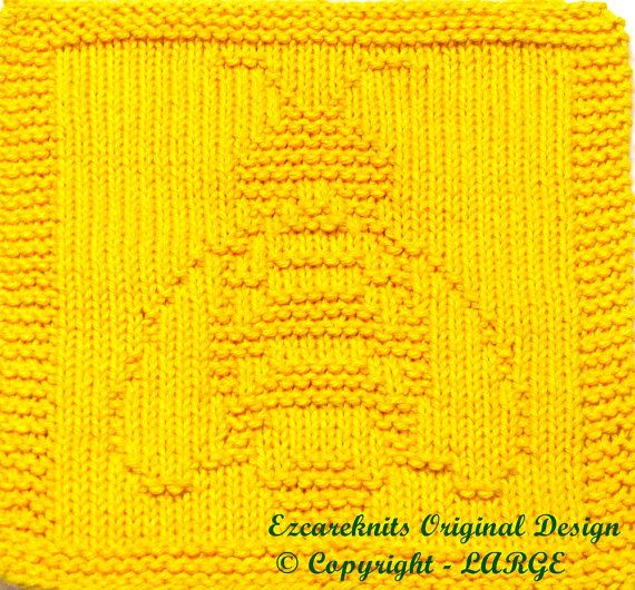 Free Dog Patterns To Knit : Knitting Cloth Pattern - BEE - Instant Download - PDF