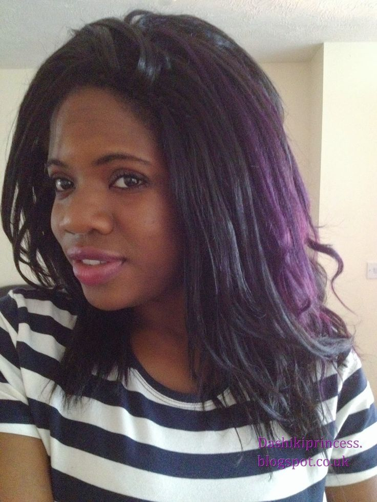 Crochet Hair In Purple : black and purple crochet braids hair Pinterest