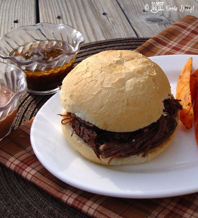 French Dip Sandwiches in the Crockpot | Beef... it's what's for dinne...