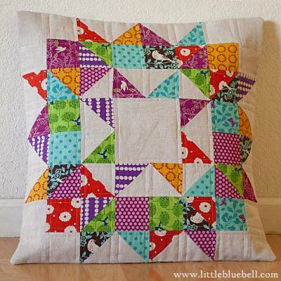 Cool scrappy swoon-inspired cushion